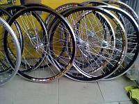 """Велосипедное колесо Mayarim, двойной обод, 24"""" , 26"""", стальная втулка, V-brake, переднее"""