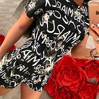 Женский костюм футболка+шорты DB-1490