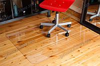 Коврик под кресло для защиты пола прозрачный 100х125см.