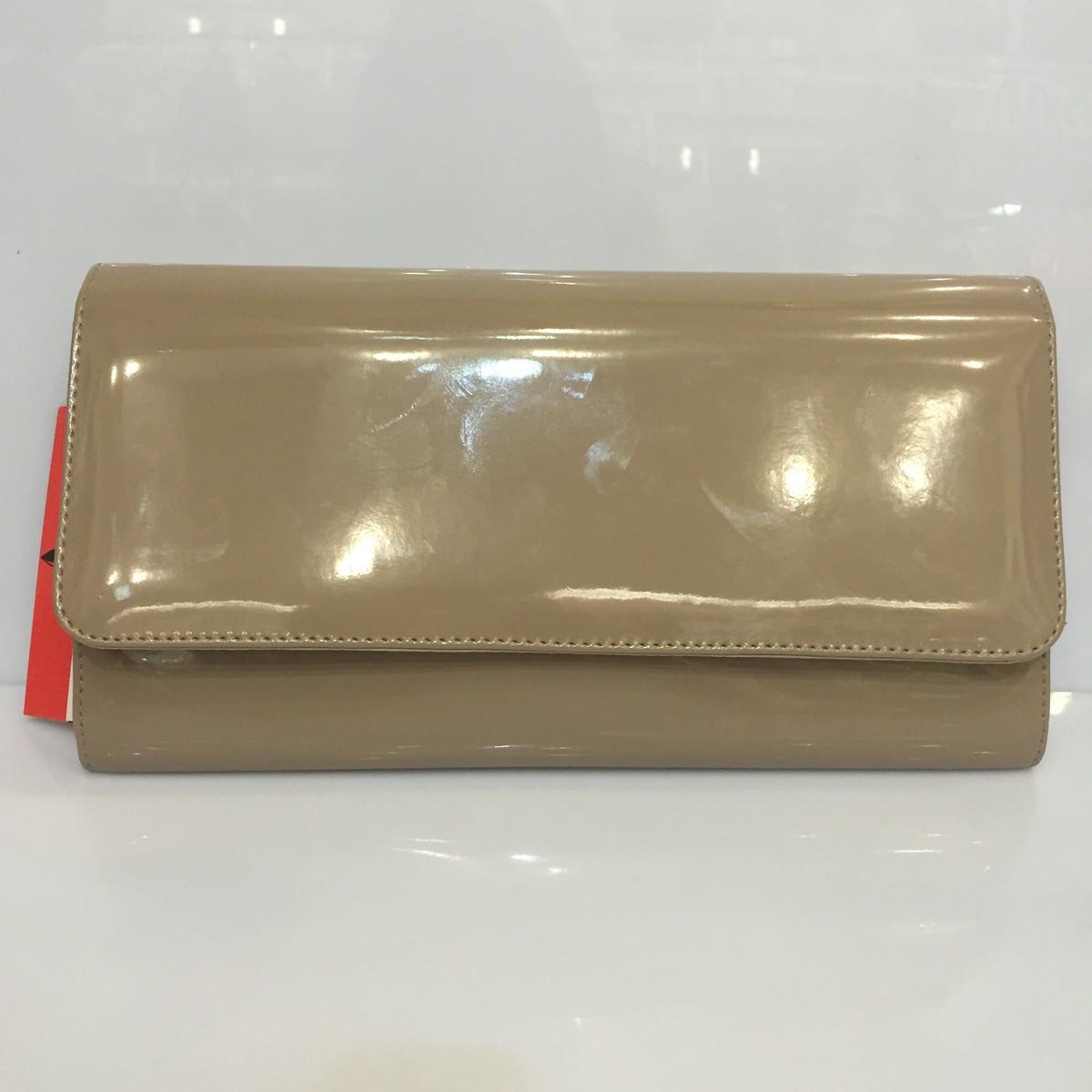 669e68616632 Женская сумка клатч Bars Барс 995 лаковый бежевый классический ...