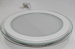 Светодиодный светильник,врезной круг со стеклом,12W, 4000K,алюминий