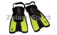 Ласты тренировочные с открытой (пяточный ремень)Seals F16(р-р S 34-38, цвета в ассортименте) Пакистан, салатовый