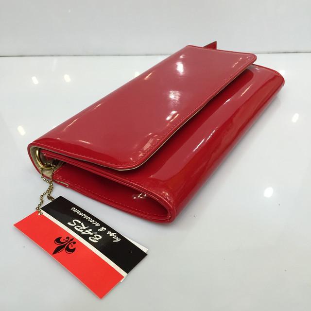 67d4590e4393 Женская сумка клатч Bars Барс 1069 красный лаковый классический ...