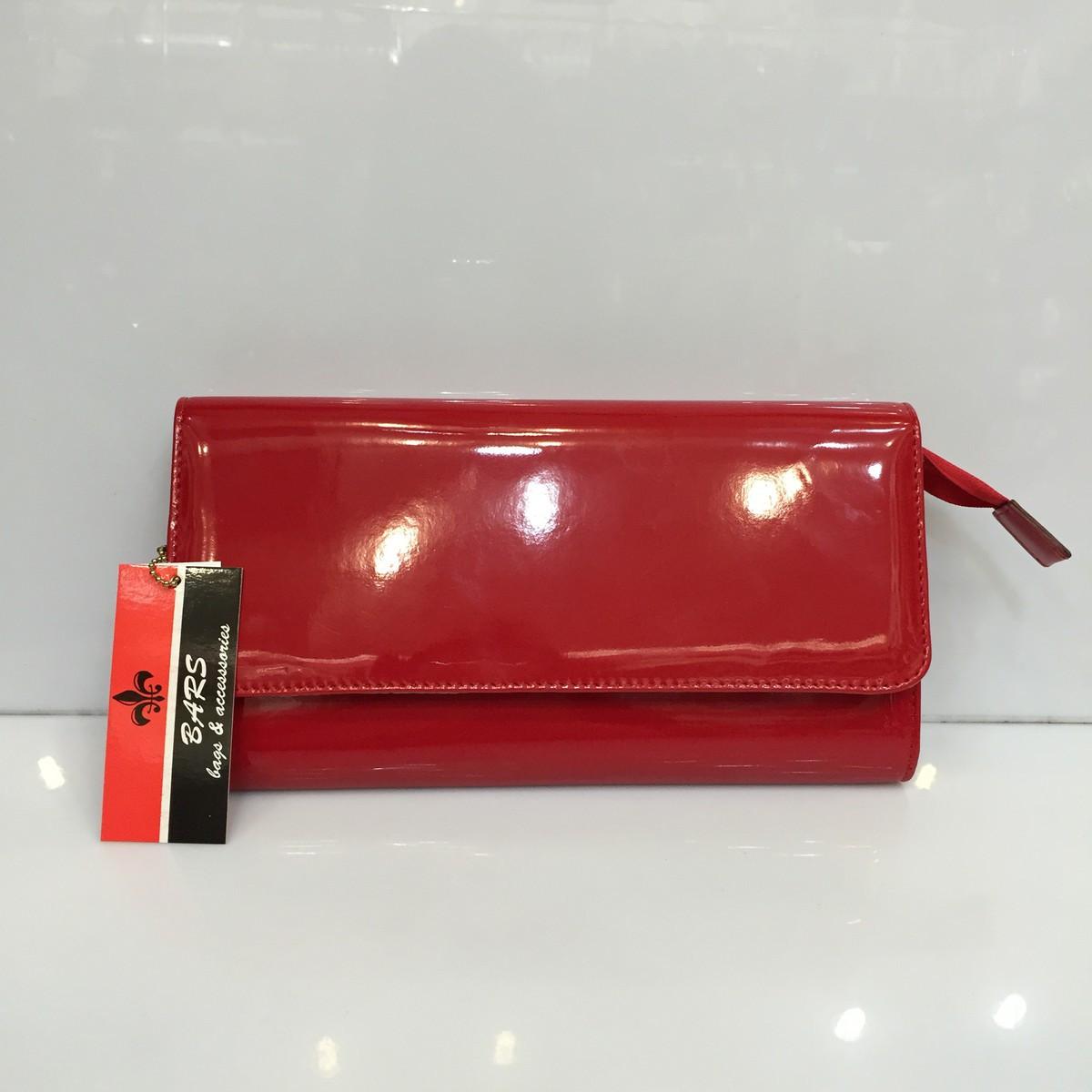 afbb33546b8b Женская сумка клатч Bars Барс 1069 красный лаковый классический ...