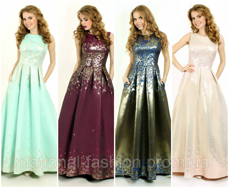 5f3d5b17e94 Вечернее платье в пол из жаккарда G0805А (р.36-40euro) - Интернет