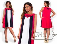 Льняное женское платье в больших размерах м-202131