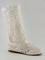 Летние сапоги белые женские текстиль Размер 37, 39, 41