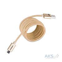 Кабель USB GOLF Metal Braided Micro USB Gold (GC-10)