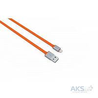 Кабель USB LDNio Lightning flat 2.1A Orange (LS09)