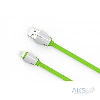 Кабель USB LDNio Lightning flat 2.1A Green (LS04)