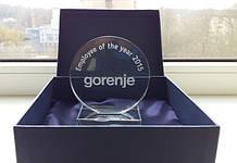 1GL_026 Награда из стекла, Идеальный круг из стекла Gorenje