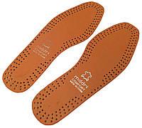 """Стельки для обуви кожаные """"MDDRI"""" коричневые"""