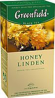 Чай Гринфилд черный с липой и медом Honey Linden 25 пакетиков