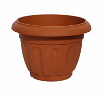 """Вазон """"тюльпан"""" без поддона, терракотовый, польша 17*15,5 см"""