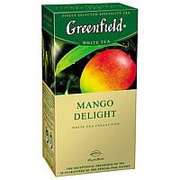 Чай Гринфилд зеленый с манго Mango Delight 25 пакетиков