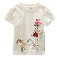 Стильна футболки на літо для дівчинки