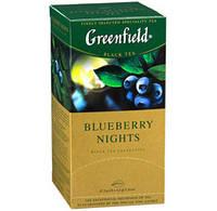 Чай Гринфилд черный со вкусом черники сливок и каркаде Blueberry Nights 25 пакетиков