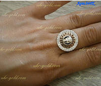 Серебряное кольцо версаче.