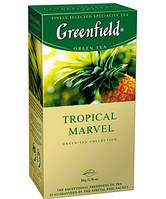 Чай Гринфилд зеленый со вкусом яблока и цитрусовых Tropical Marvel 25 пакетиков