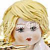 Фигурка колекционная с фарфора, ручная робота ,Италия «Ангелочек с трубой» h-6,5 см. Zampiva, фото 3