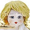 Фигурка колекционная с фарфора, ручная робота ,Италия «Ангелочек с трубой» h-9 см. Zampiva, фото 2