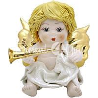 Фигурка «Ангелочек с трубой» h-12 см. Zampiva