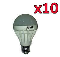 10шт Светодиодная LED лампочка UKC E27 9W