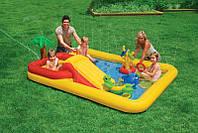 Водный игровой центр-бассейн с горкой Intex 57454