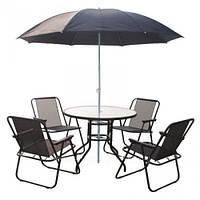 Комплект мебели 4 стула + стол + зонт Torino