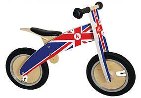 Беговел Kiddi Moto Kurve деревянный, британский флаг (BB)