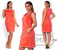 Стильное платье в больших размерах и-202135