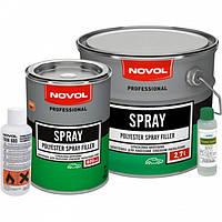 NOVOL SPRAY Распыляемая жидкая шпатлевка 0,8л + 0,08мл отвердитель