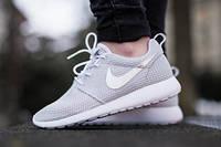 Мужские кроссовки Nike Roshe Run Grey Silver