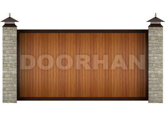 Doorhan откатные ворот из сэндвич-панелей