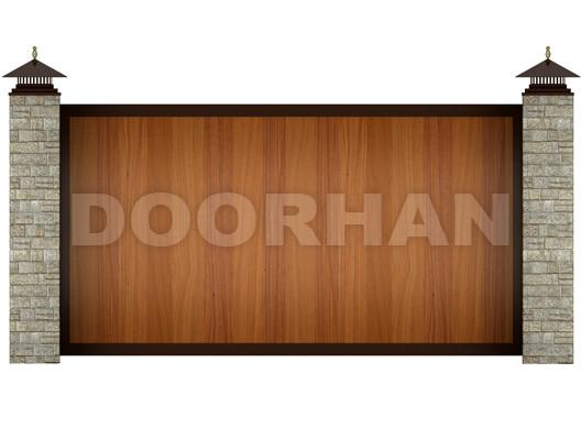 Doorhan откатные ворота из алюминиевых профилей