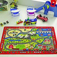 Ковер в детскую комнату Confetti Railway (красный) 100х150