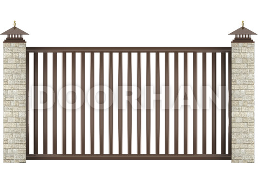 Откатные ворота Doorhan из решетчатых алюминиевых профилей