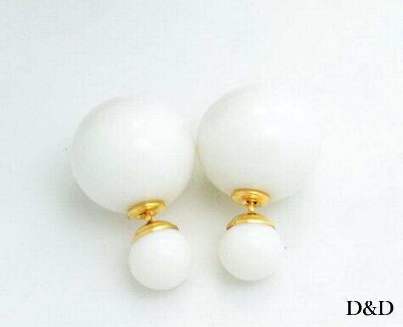 Серьги-шарики Dior двухсторонние