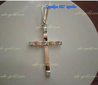 Крест из серебра со вставками золота