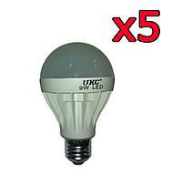 5шт Светодиодная LED лампочка UKC E27 9W