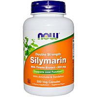 Силимарин, экстракт Расторопши, 200 капсул, Now Foods, США