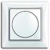 Диммер поворотний для LED ламп, 2-100 Вт, білий колір