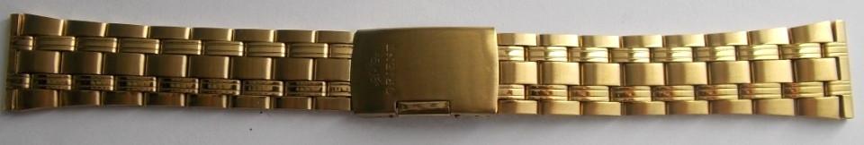 Браслет для часов метал ОРИЕНТ 22 мм Gold