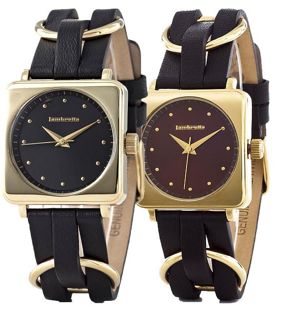 Винтажные кварцевые наручные часы Lambretta Cassola Gold - 2 вида