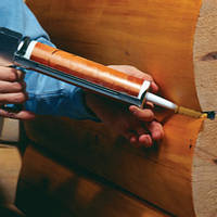 Герметизация швов сруба, деревянного дома, фото 1