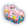 """Игровая палатка """"Счастливый турист"""" розовый автобус."""