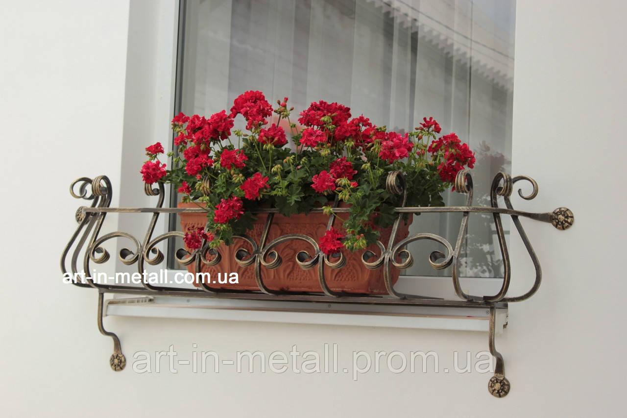 """Кованый цветочник на окно """"Арфа"""""""
