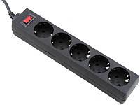 Сетевой фильтр питания Defender 1.8m 5 роз. black