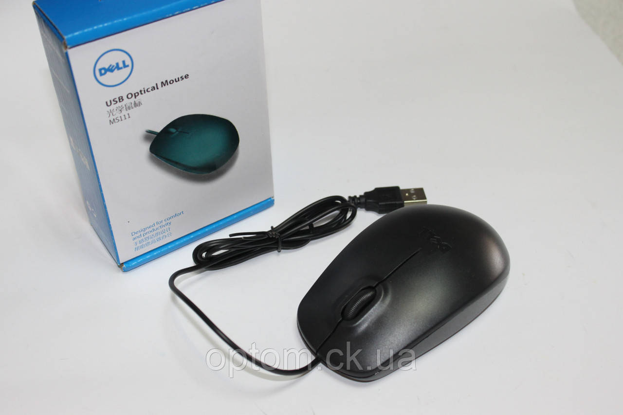 Мышка DELL USB Black