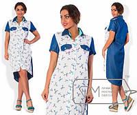 Стильное батальное платье а-202144